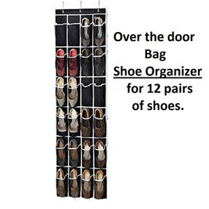 Shoe Organizer Over the Door holds 24 shoes NEW